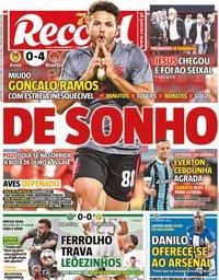 capa Jornal Record de 22 julho 2020