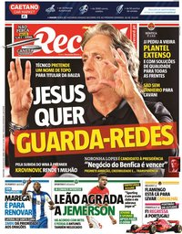 capa Jornal Record de 24 julho 2020