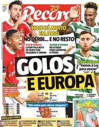 capa Jornal Record de 25 julho 2020