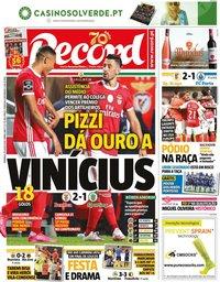 capa Jornal Record de 26 julho 2020