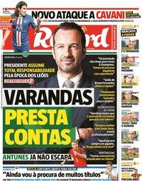 capa Jornal Record de 28 julho 2020