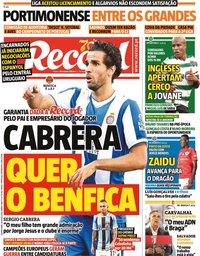 capa Jornal Record de 30 julho 2020