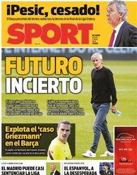 capa Jornal Sport de 2 julho 2020