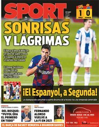 capa Jornal Sport de 9 julho 2020