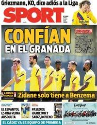 capa Jornal Sport de 13 julho 2020