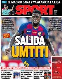 capa Jornal Sport de 14 julho 2020