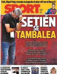 capa Jornal Sport de 18 julho 2020