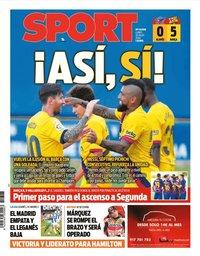capa Jornal Sport de 20 julho 2020