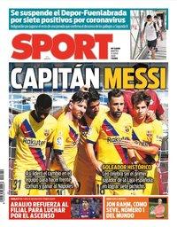 capa Jornal Sport de 21 julho 2020