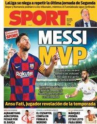 capa Jornal Sport de 22 julho 2020