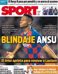 capa Jornal Sport de 24 julho 2020