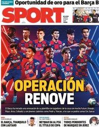 capa Jornal Sport de 25 julho 2020