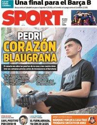 capa Jornal Sport de 26 julho 2020