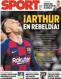 capa Jornal Sport de 28 julho 2020