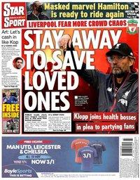capa Jornal Star Sport de 4 julho 2020
