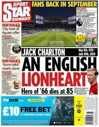 capa Jornal Star Sport de 12 julho 2020