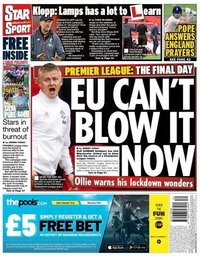 capa Jornal Star Sport de 25 julho 2020