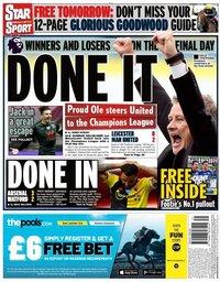 capa Jornal Star Sport de 27 julho 2020