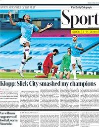 capa Jornal Telegraph Sport de 3 julho 2020
