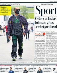 capa Jornal Telegraph Sport de 4 julho 2020