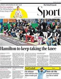 capa Jornal Telegraph Sport de 6 julho 2020