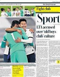 capa Jornal Telegraph Sport de 7 julho 2020