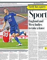 capa Jornal Telegraph Sport de 8 julho 2020