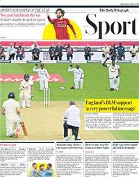 capa Jornal Telegraph Sport de 9 julho 2020