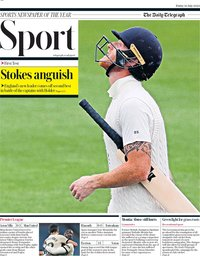 capa Jornal Telegraph Sport de 10 julho 2020