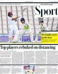 capa Jornal Telegraph Sport de 11 julho 2020