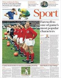 capa Jornal Telegraph Sport de 12 julho 2020