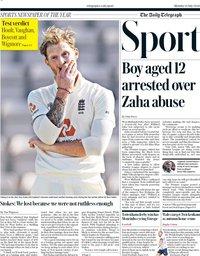 capa Jornal Telegraph Sport de 13 julho 2020
