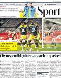 capa Jornal Telegraph Sport de 14 julho 2020