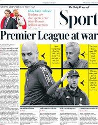 capa Jornal Telegraph Sport de 15 julho 2020