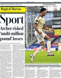capa Jornal Telegraph Sport de 17 julho 2020