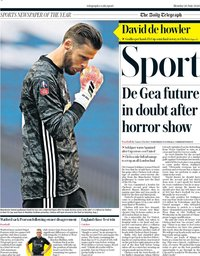 capa Jornal Telegraph Sport de 20 julho 2020