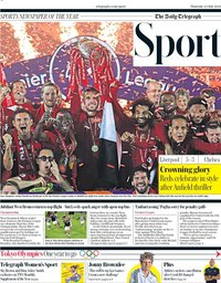 capa Jornal Telegraph Sport de 23 julho 2020