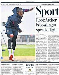 capa Jornal Telegraph Sport de 24 julho 2020