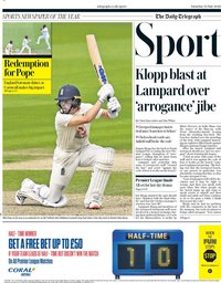 capa Jornal Telegraph Sport de 25 julho 2020