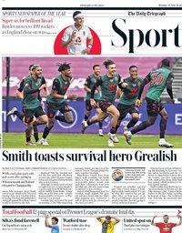capa Jornal Telegraph Sport de 27 julho 2020