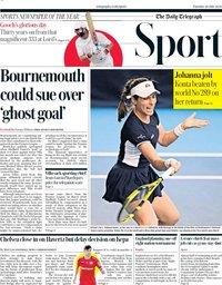 capa Jornal Telegraph Sport de 28 julho 2020