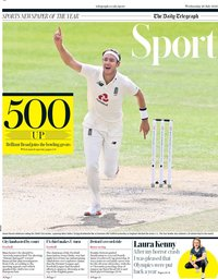 capa Jornal Telegraph Sport de 29 julho 2020