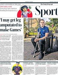 capa Jornal Telegraph Sport de 30 julho 2020