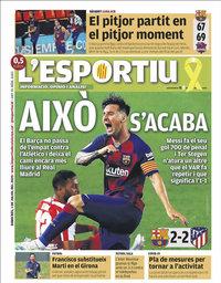 capa L'Esportiu de 1 julho 2020