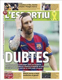 capa L'Esportiu de 4 julho 2020