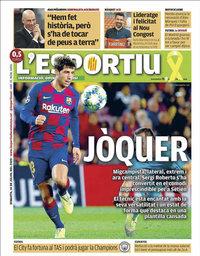 capa L'Esportiu de 14 julho 2020