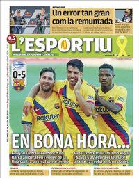 capa L'Esportiu de 20 julho 2020