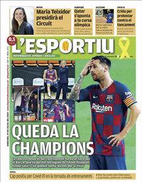 capa L'Esportiu de 29 julho 2020
