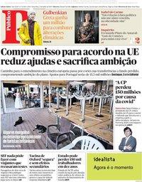 capa Público de 21 julho 2020