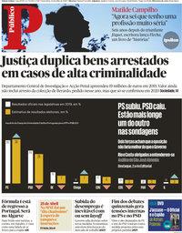 capa Público de 24 julho 2020